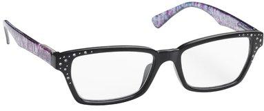 Läsglasögon Lix +2.0 Havanna med stenar svart