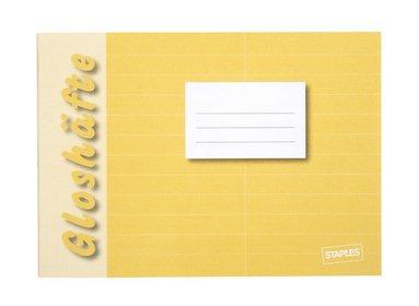 Gloshäfte A6L linjerad gul