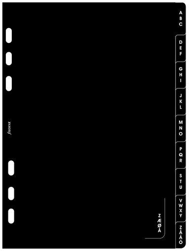 Kalenderdel Filofax A5 Register A-Ö
