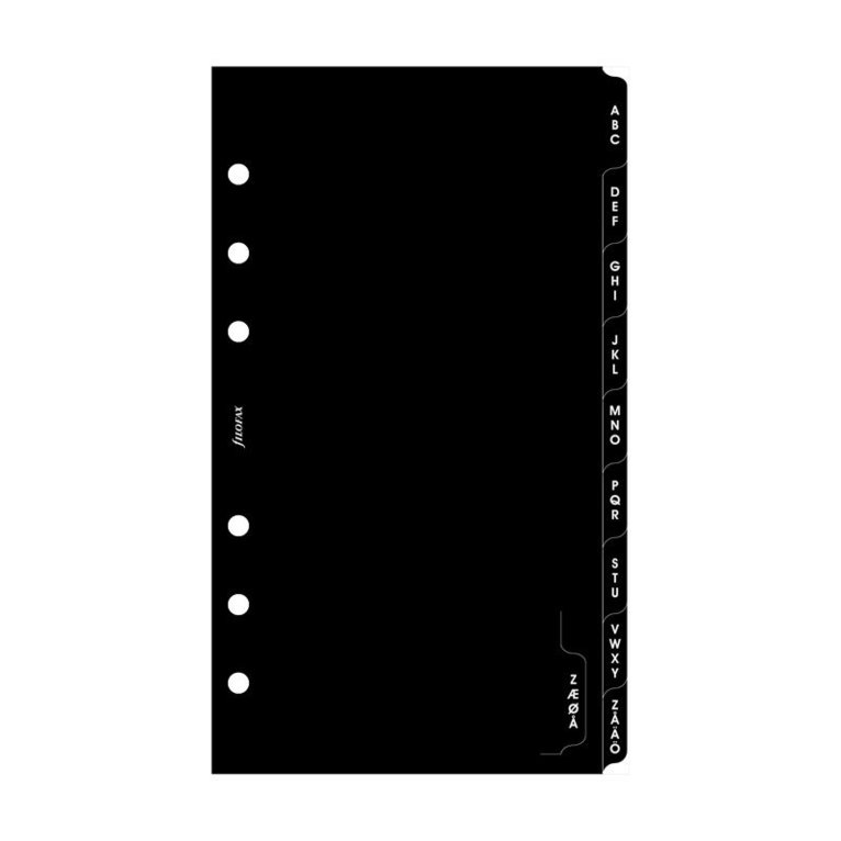 Kalenderdel Filofax Personal register A-Ö 1