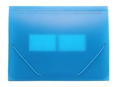 Hemarkiv A4 plast neonblå