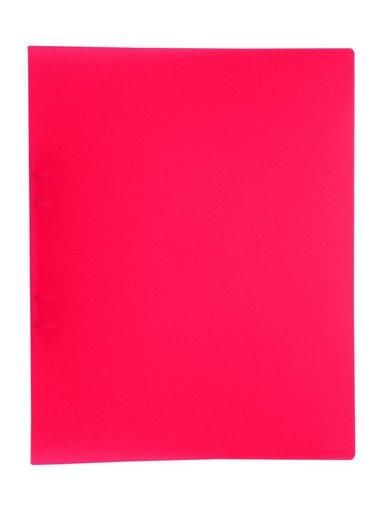 Ringpärm A4 plast neonrosa
