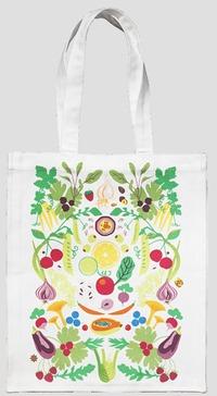 Tygkasse Våra grönsaker