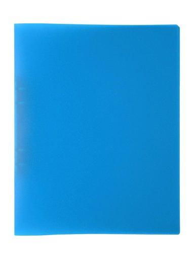 Ringpärm A4 plast neonblå