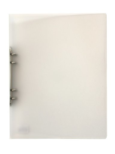 Ringpärm A4 plast transparent vit