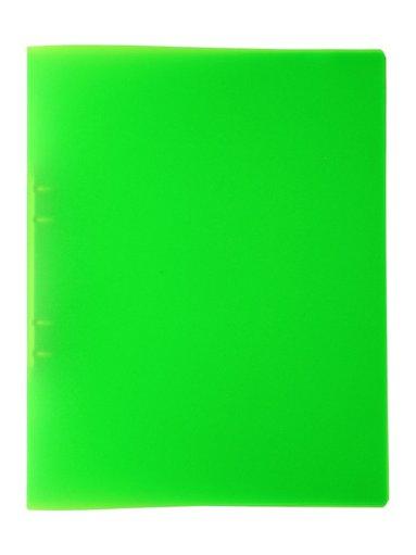 Ringpärm A4 plast neongrön
