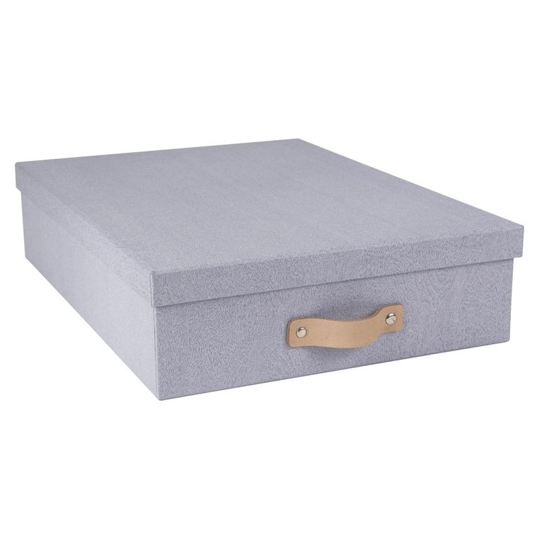Dokumentbox A4 Oskar trälaminat grå ek 1
