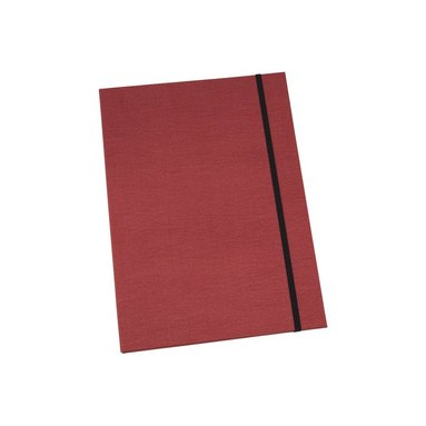 Mapp A4 Paulina canvas röd 1