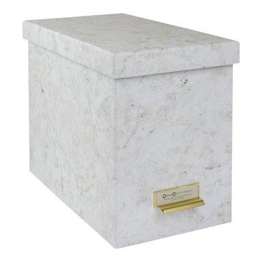 Arkivlåda med hängmappar Johan marmor 1