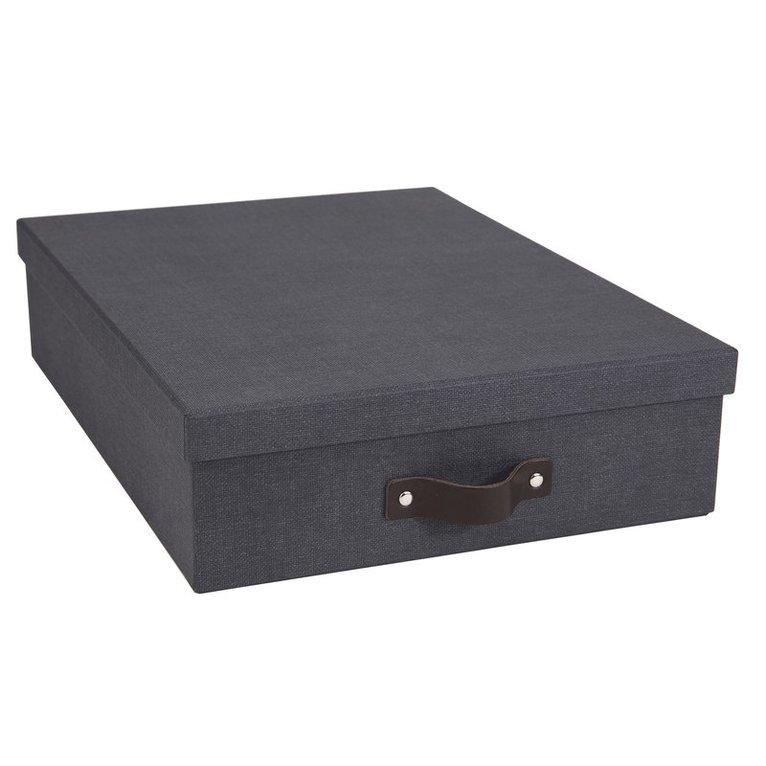 Dokumentbox A4 Oskar canvas svart 1