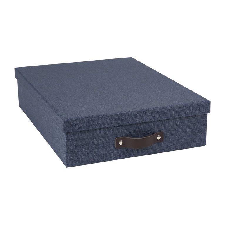 Dokumentbox A4 Oskar canvas blå 1