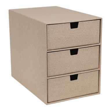 Byrå med 3 lådor Ingrid trälaminat ljus ek  1