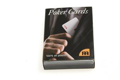 Kortlek Poker 100% plast blå