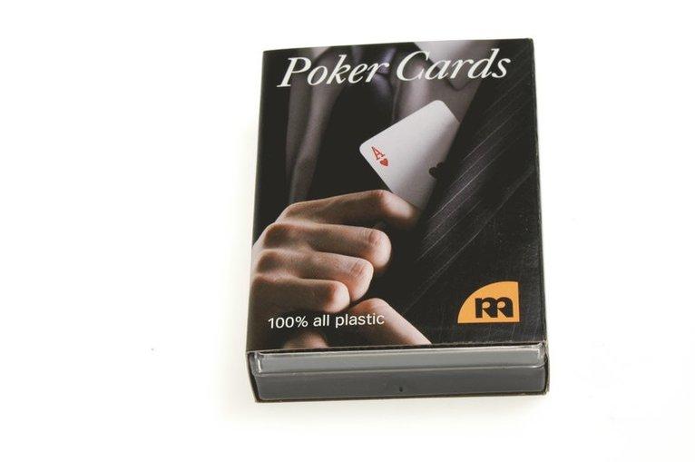 Kortlek Poker 100% plast blå 1