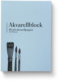 Akvarellblock A6 240g 20 ark