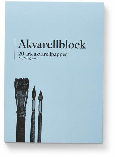 Akvarellblock A5 240g 20 ark