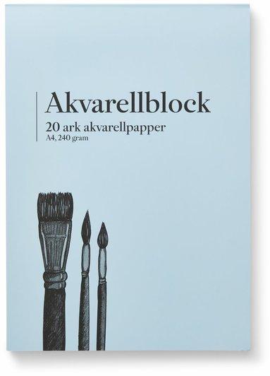 Akvarellblock A4 240g 20 ark