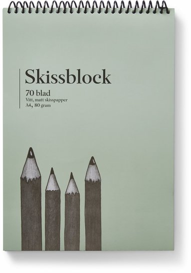 Skissblock A4 80g 70 blad