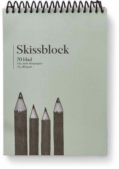 Skissblock A5 80g 70 ark