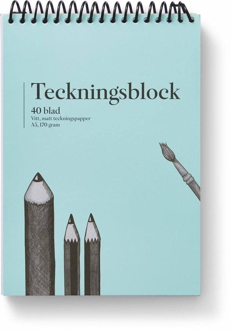 Teckningsblock A5 170g 40 blad 1