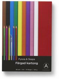 Kartong A4 120 gram 80 ark i olika färger