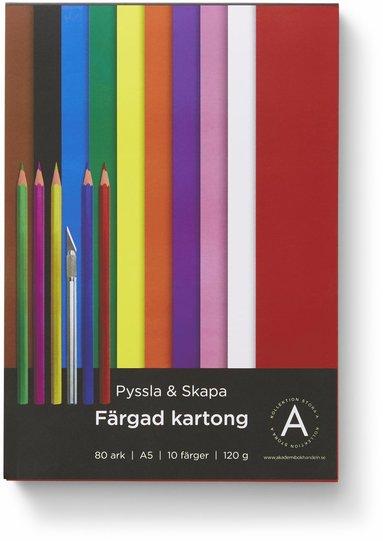 Kartong A5 120 gram 80 ark i olika färger