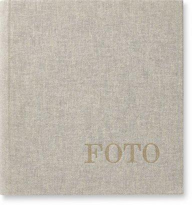 Fotoalbum med 200 fickor Lino grå