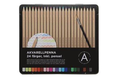 Akvarellpenna 24 färger med pensel 1