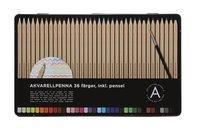 Akvarellpenna 36 färger med pensel