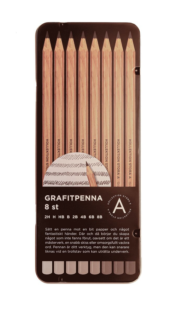 Grafitpenna 8-pack 1