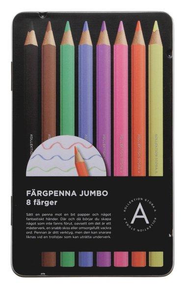 Färgpenna Jumbo 8 färger 1