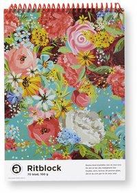 Ritblock A4 blommor