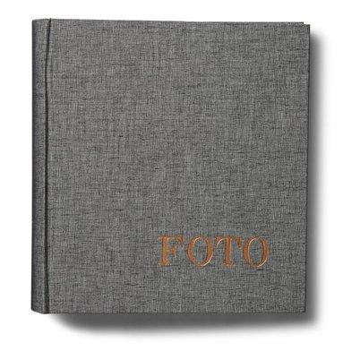 Fotoalbum med 200 fickor Elster grå