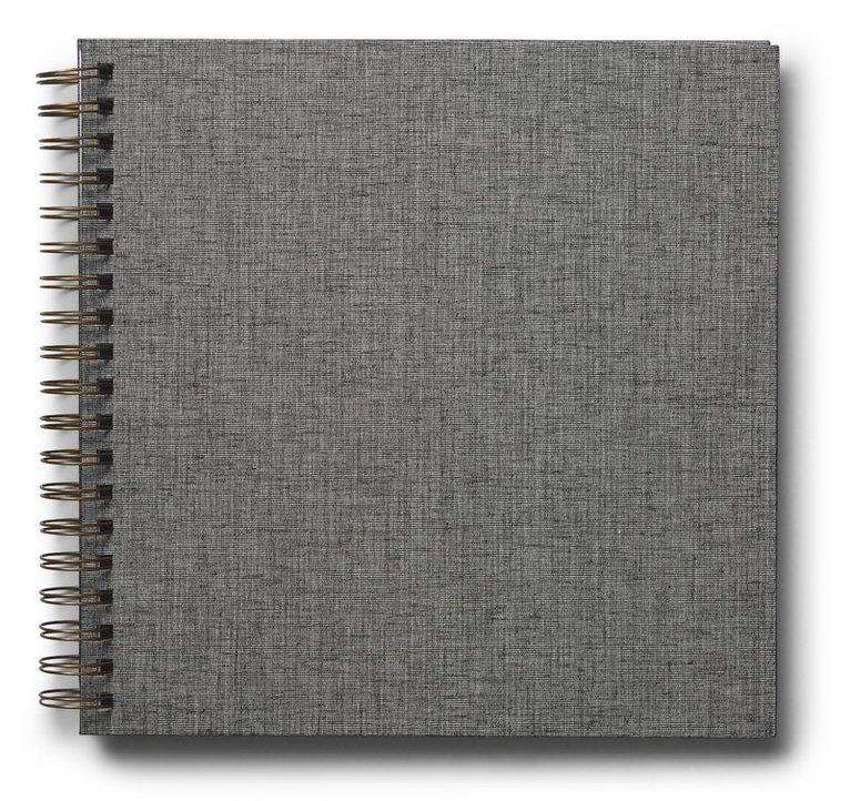 Fotoalbum 245x245mm spiral Elster grå 1