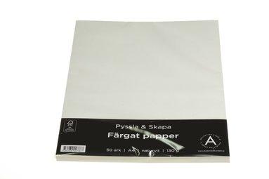 Kopieringspapper A4 130g 50 ark naturvit