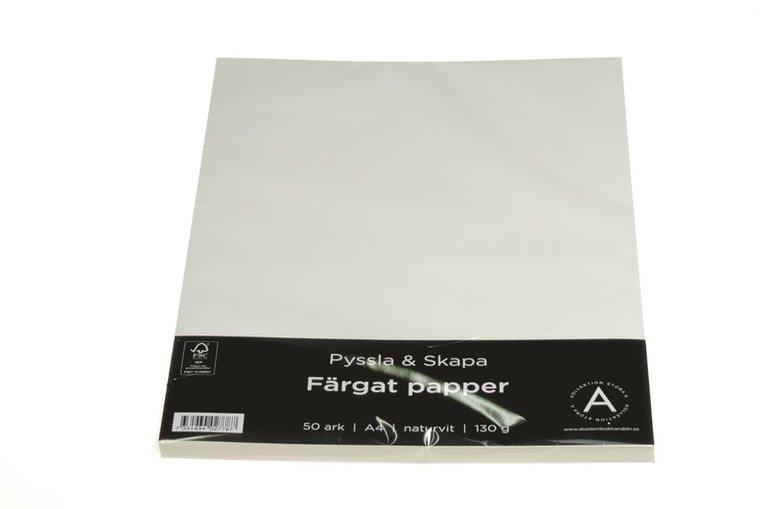 Papper A4 130g 50 ark naturvit 1