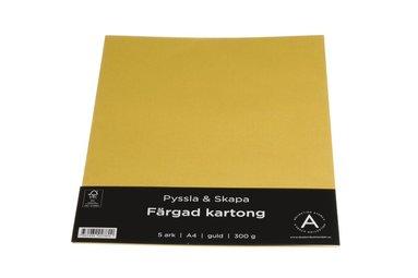 Kartong A4 300g 10 ark guld