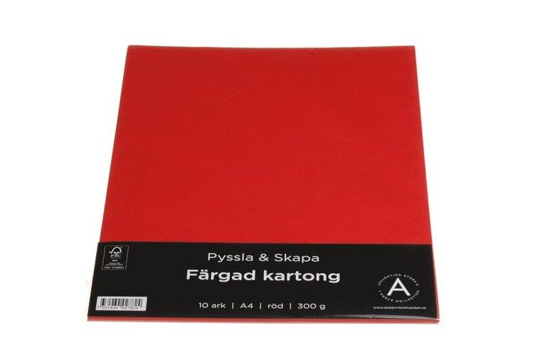 Kartong A4 300g 10 ark röd 1