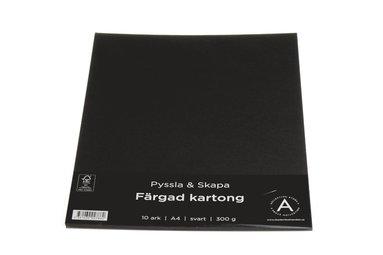 Kartong A4 300g 10 ark svart
