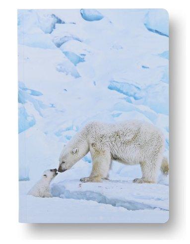 Anteckningsbok A5 linjerad mjuk pärm Mattias A. Klum isbjörn 1