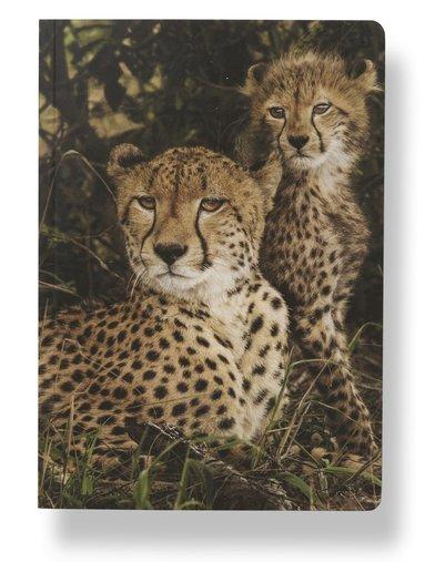 Anteckningsbok A5 linjerad mjuk pärm Mattias A. Klum gepard 1