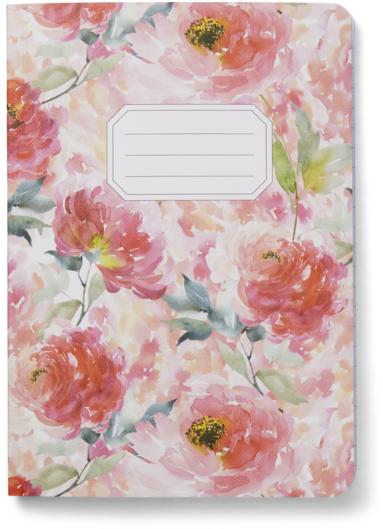 Skrivhäfte A5 linjerad Blomster