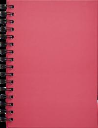 Anteckningsbok A5 linjerad spiral rosa