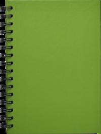 Anteckningsbok A5 linjerad spiral grön