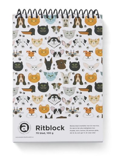 Ritblock A5 100g 70bl Katt & Hund