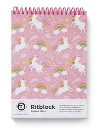 Ritblock A5 100g 70bl Enhörning