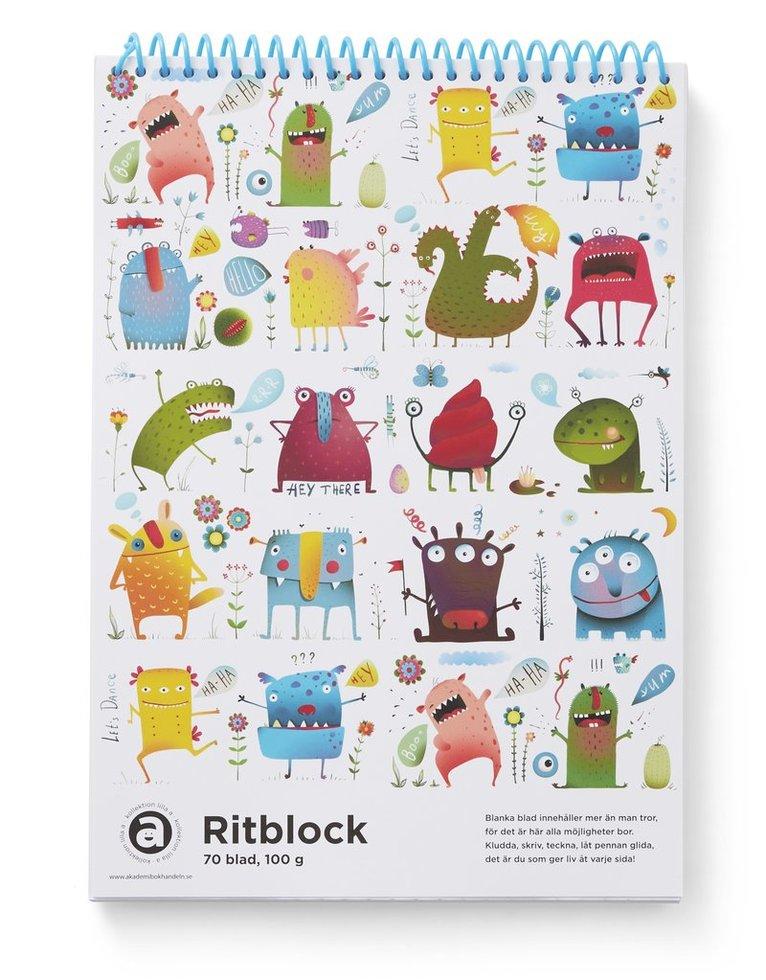 Ritblock A4 100g 70bl Monster 1
