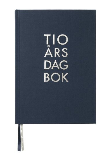 Dagbok 10-års A5 textil marinblå 1