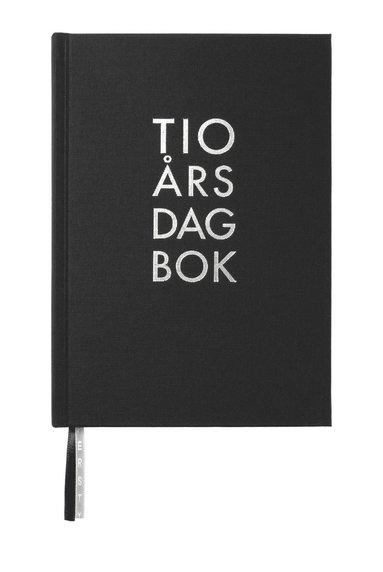 Dagbok 10-års A5 textil svart 1