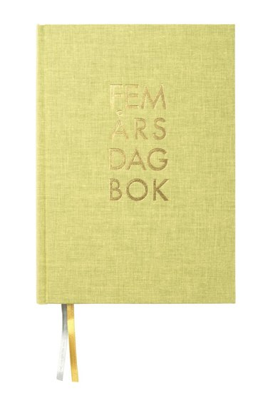 Dagbok 5-års A5 textil ängsgrön